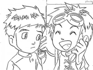 Tamers Coloriage 03