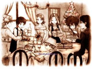 digimon__together_for_christmas_by_detoreik-d5oq3bq