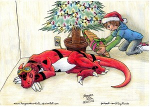 digimon_tamers___just_a_little_christmas_gift_by_laryssadesenhista-d5mowvv